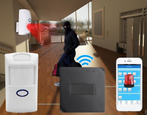 Smart Home Security Kit Includes Motion Detector Door Sensor App Remote