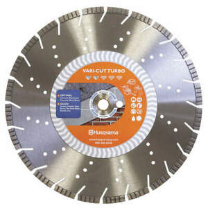 Husqvarna Diamond Saw Blade demolition 14 Dia Vari cut Turbo 14