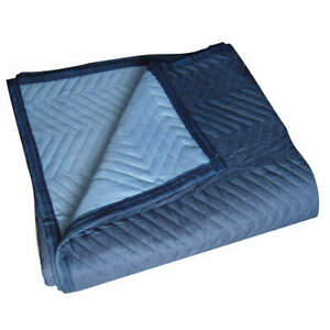 Grainger Approved Nonwoven Quilted Moving Pad l72xw80in blue pk6 2nkr8 Blue