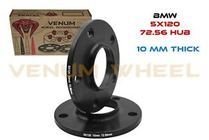 2 Pc Black Bmw Wheel Spacers Only 10mm Thick Fits All Bmw S With 72 56 Hub Bore