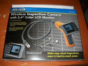 Nib Cen tech Wireless Inspection Camera W 2 4 Color Lcd Monitor