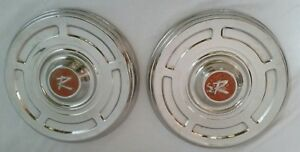 Pair 1966 1967 Rambler American Poverty Dog Dish Hubcaps Nice Driver Quality