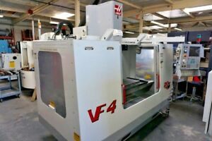 Haas Vf 4 Cnc Vertical Machining Center 2000 4th Axis Ready