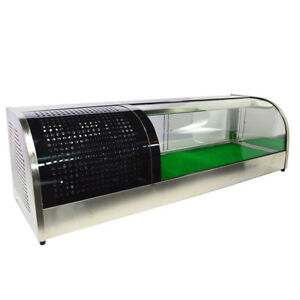 60 Sushi Display Case Refrigerated Stainless Showcase Retailing Show Cabinet