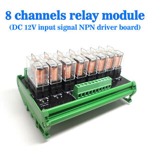usa Omron 8 Relay Module Eight Panels Driver Board Socket Dc 12v Npn
