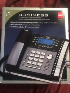 4 Line Rca Business Phone Telefield 25424re1 New In Box