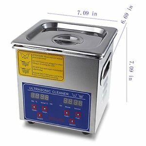 Flexzion Commercial Ultrasonic Cleaner Large Capacity Stainless Steel With Heate