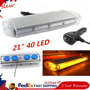 21 40 Led Work Light Flashing Lamp Strobe Steady Bar Warn Beacon Roof Truck