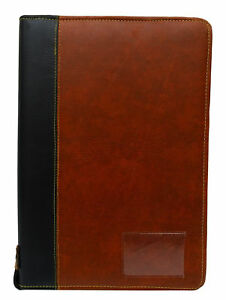 Business Faux Leather Portfolio Office Supplies 30 Pockets Paper Organizer