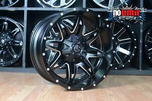 20x10 Fuel Lethal D567 Black Wheels Ram 2500 3500 Custom Rims Wheels