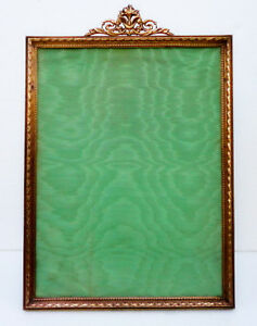 Antique Huge French Empire Gilt Ormolu Picture Frame Ribbon Bows