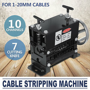 Manual Electric Wire Stripping Machine 1 20mm Recycle Tool Copper 10 Channels