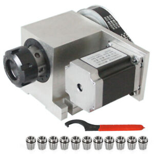 Cnc Engraver Machine Router Rotational Axis Hollow Shaft 4th Axis Er32 Collet