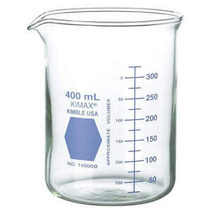 Griffin Beaker low Form glass 400ml pk12 14000b 400