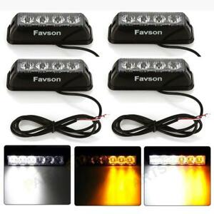 Strobe Lights For Cars Trucks Favson Light Kit Led 4 Pcs Van With High Intensity