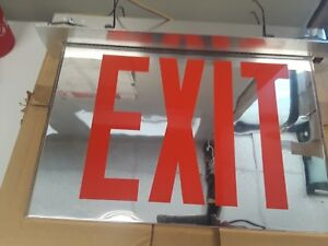 Red Emergency Exit Light Sign