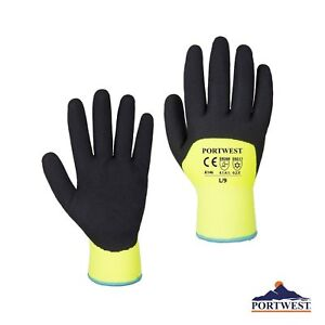 Portwest A146 Artic Cold Safety Work Gloves Sandy Coated Pick Color Size