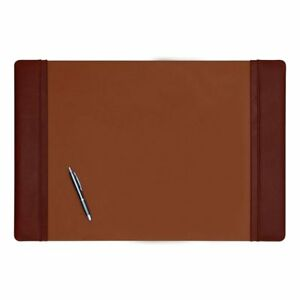 Mocha Leather Side Rail Desk Pad 25 5 X 17 25
