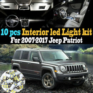 10pc Super White Car Interior Led Light Kit Package For 2007 2017 Jeep Patriot