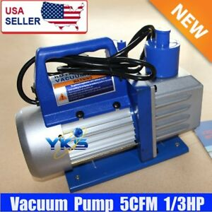 Single Stage 5cfm 1 3hp Vacuum Pump Rotary Air Conditioning Refrigerant Ac My