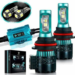 Glowteck Extreme 360 Led Headlight Bulb Conversion Kit 9007 Hb5 12000 Lumen Pair