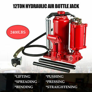 Heavy Duty Hydraulic Air Jack Bottle Jack 12 Ton 24 000 Lbs Capacity