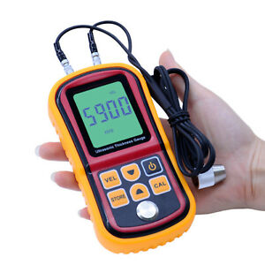 Ultrasonic Thickness Meter Tester Gauge Metal Steel Testing 1 2 220mm Gm100 8do