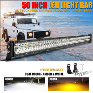 Cree 50 inch Led Work Light Bar 1152w Combo Truck Offroad Suv Boat Driving Jeep