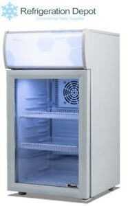 Migali C 02rm Counter top Glass Door Refrigerator 2 Cu ft