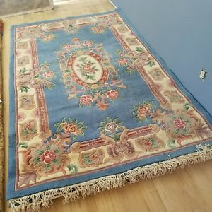 Total Of 3 Rugs Old Art Deco By Hand Chinese Oriental Rugs Total Of 3 Rugs