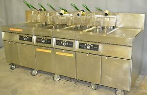 Used Frymaster 4 Bay With 2 Dump Stations Excellent Functional Condition