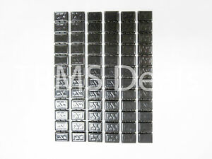 Black Stick On Adhesive Wheel Balancing Weights 6 Strips For Motorcycle Wheels