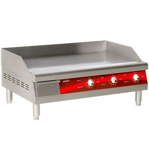 Commercial Electric 30 Flat Top Electric Countertop Griddle Grill Restaurant