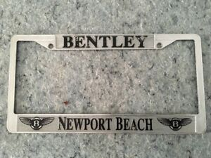 Bentley Newport Beach Cal License Plate Frame Fits Us Plates 1956 To Date