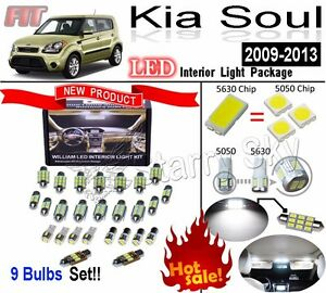 9 Bulbs White Led 5630 Interior Lamps Interior Light Kit For Kia Soul 2009 2013