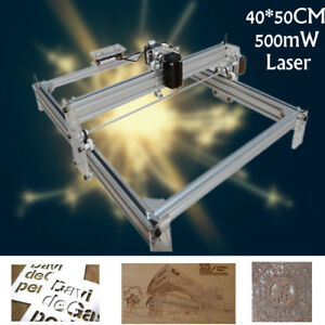 40x50cm Laser Engraving Cutting Cutter Marking Printer Logo Machine Kit 500mw Us