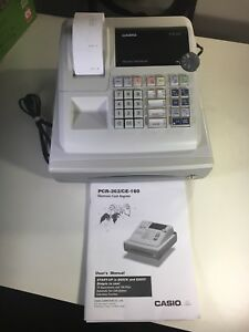 Casio Cash Register Pcr 262 ce 160 With Manual Working