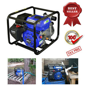 Portable Utility Water Pump Gas Powered Heavy Duty Pool Flood Mover 7 Hp 2 In