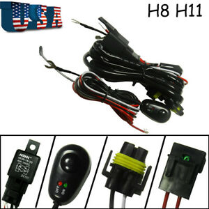 H8 H11 Relay Harness Wire Kit Led On Off For Chevrolet Fog Light Hid Worklamp