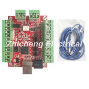 Free Shipping Cnc Mach3 Usb 4 Axis 100khz Usbcnc Smooth Stepper Motor Controller