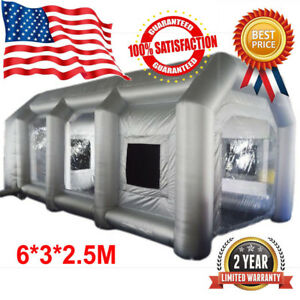 6 3 2 5m Inflatable Spray Paint Booth Giant Car Workstation Tent Rainproof Fan