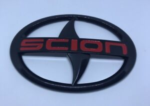 Scion Large Black Red Logo Emblems Badge Stickers Decals Tc Xa Xb Front Grille