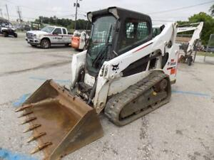 2015 Bobcat T590 Skid Steer Loader 945 Hours Erops Ac heat Aux Hyd 61 Hp