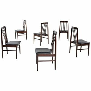 Set Of 6 Danish Modern Rosewood Dining Chairs Skovby Benny Linden