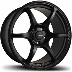 1 new 17 Avid1 Av26 Wheel 17x9 5x114 3 40 Black Rim