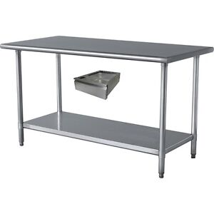 Commercial Stainless Steel Work Table 30 X 24 With Drawer