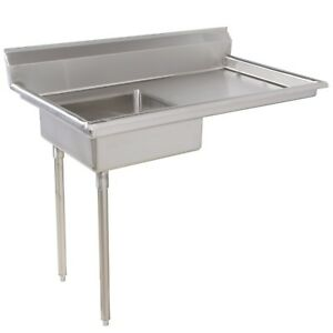 Soiled Dirty Undercounter Dish Table Stainless Steel 48 Left