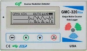 Gq Gmc 320 plus Geiger Counter Nuclear Radiation Detector Meter Beta Gamma X Ray