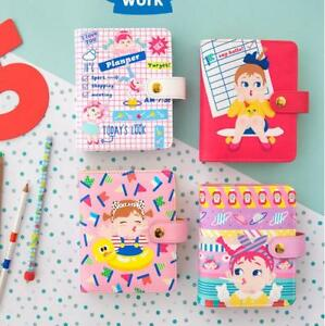 Notebooks Stationery South Korea Cute Leather 6 Holes Spiral Fine Candy Personal