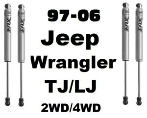 Fox 2 0 Perform Series Front Rear Shocks For 97 06 Jeep Wrangler Tj Lj 2 4wd
